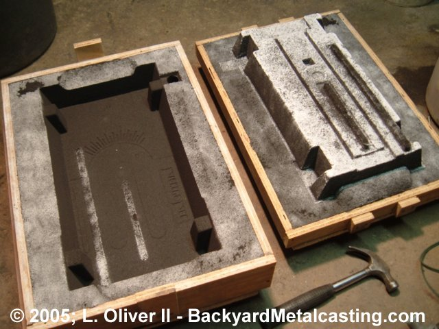 how to make green sand molds