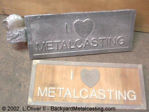 Learn how to cast metal in sand