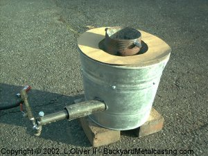 "2 bucket"" crucible furnace"