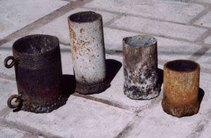 Homemade steel/iron crucibles