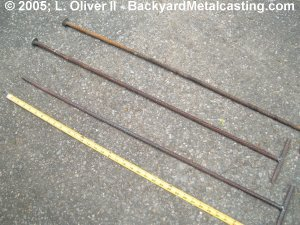 Bott and tapping rods