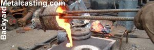 melting metal in a home foundry backyard metalcasting metal casting