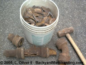 Scrap iron drain pipes
