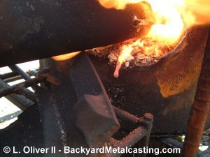 Molten iron dripping