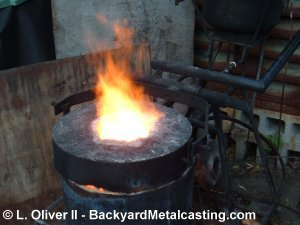The furnace melting iron