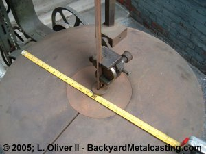 the saw table is a full 24 diameter circle i think this may be