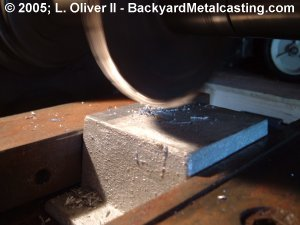 Milling the top of a casting