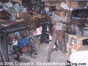 Both lathes in basement