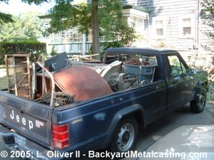 Another truckload of scrap metal