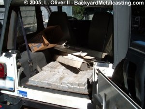 Aluminum ingots in my jeep