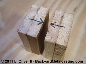 Wooden blocks to form the nozzle
