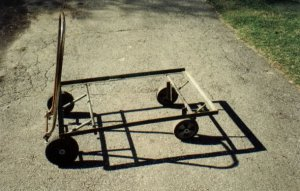 here is the cart with the plywood base installed nice looking and
